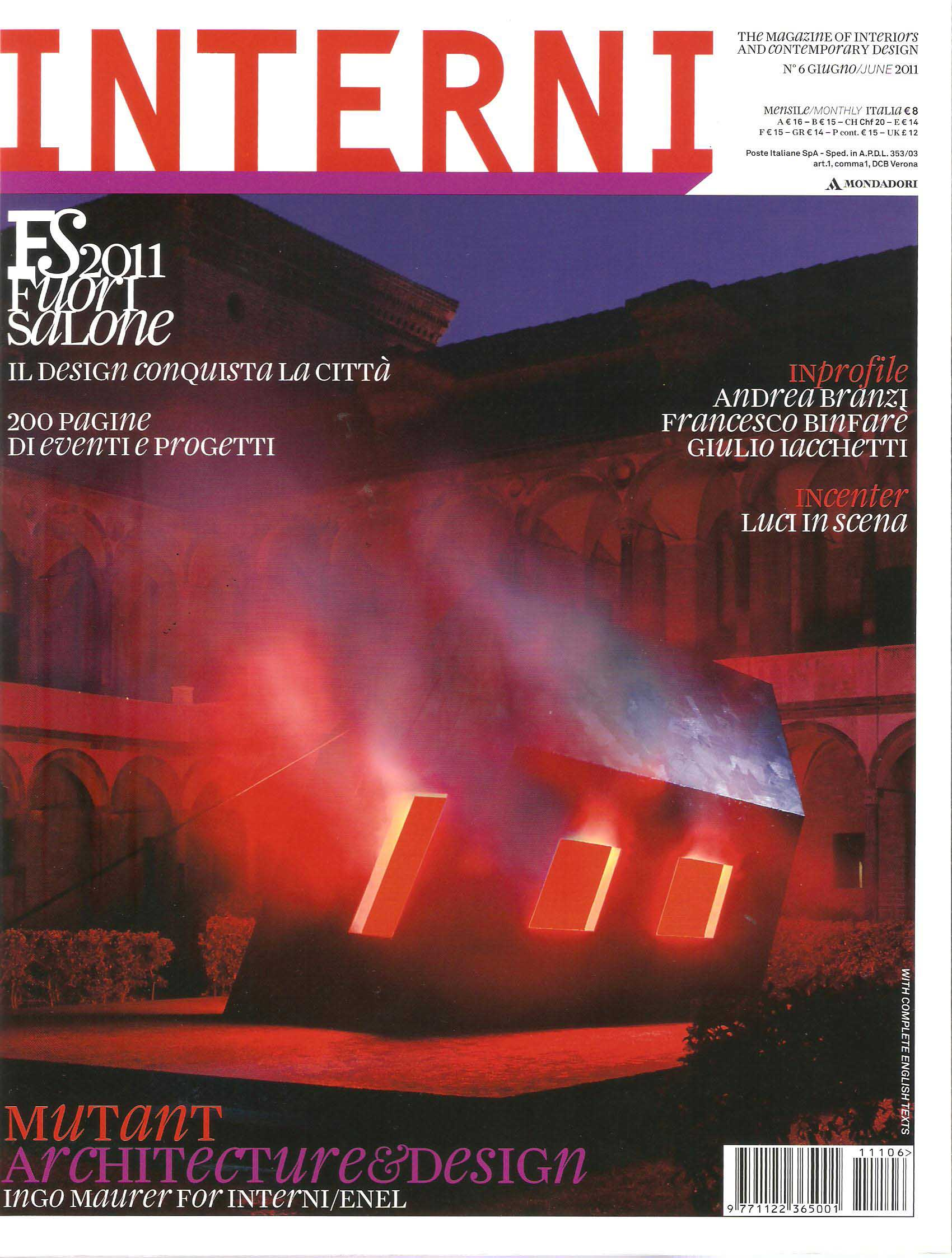 Interni magazine pierattelli architetture for Rivista interni